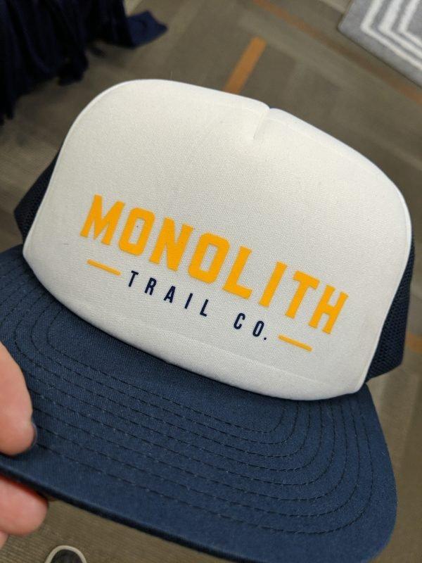 product shot of the monolith foamie trucker hat