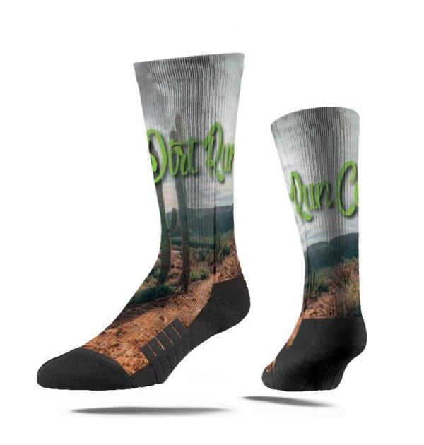 product shot of dirt run co trail running socks