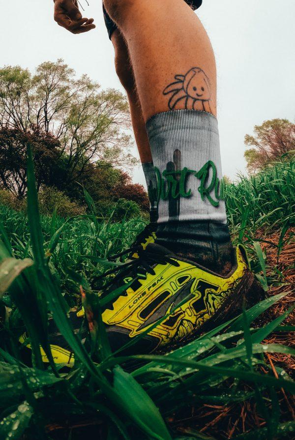 product shot of dirt run co trail running sock