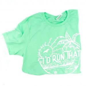 product image of I'd run that tee - beachy