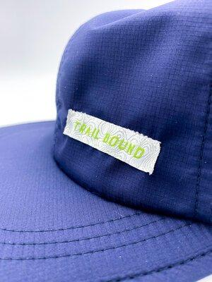 closeup product shot of packable trucker front
