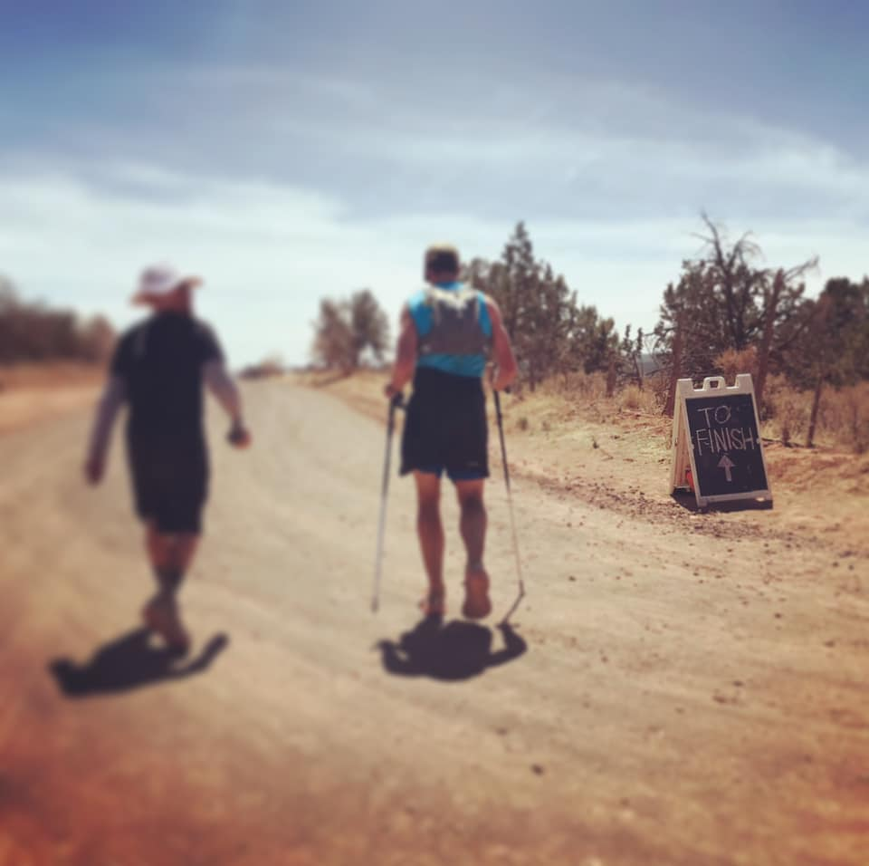 jeff morrick nearing the end of the zion 100 mile trail race